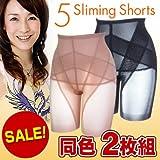 Micacoファイブスリミングショーツ(5 Sliming Shorts)70[ウエスト67〜73cm、ヒップ86〜96cm][ベージュ2枚組]