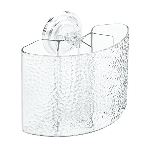 InterDesign Rain Power Lock Suction,  Toothbrush Holder for Bathroom Mirror, Shower - Clear (Shower Toothbrush Holder compare prices)