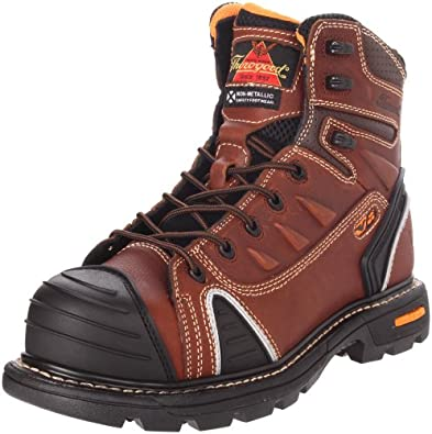 Thorogood Composite Safety Toe Gen Flex 804-4445 6-Inch Work Boot, Brown, 7 M US