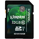 Kingston 32GB SDHC Class 10 Memory Card For Nikon Coolpix S9700 Camera