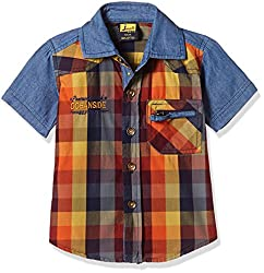 Seals Baby Boys' Shirt (AM8137_1_RUST_1)