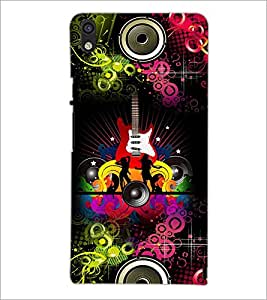 PrintDhaba Guitar D-4617 Back Case Cover for HUAWEI ASCEND P6 (Multi-Coloured)