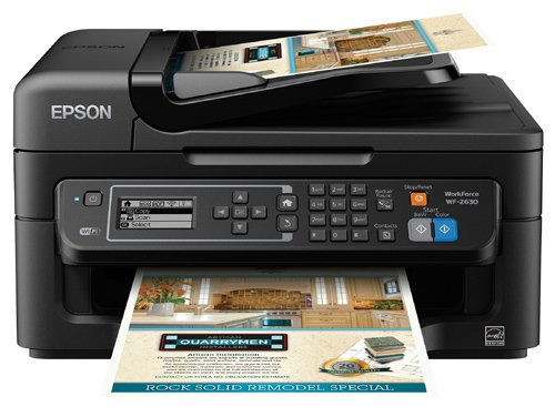Epson WorkForce WF-2630 All-In-One Wireless Color Printer with Scanner, Copier and Fax