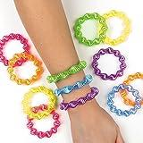 Toy - Weiche Spiral-Armb�nder in Neonfarben f�r Kinder - als Mitgebsel f�r den Kindergeburtstag - 6 St�ck
