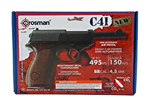 Crosman C41-CL Metal Frame 0.177 Caliber Air Pistol with Abmidextrous Checkered Grip