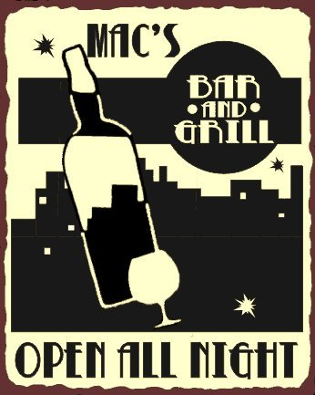 Macs Bar And Grill Vintage Metal Art Bar Retro Tin Sign front-1068906