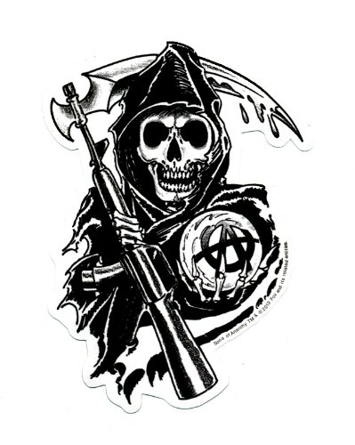 Sons Of Anarchy Reaper Sticker - 1