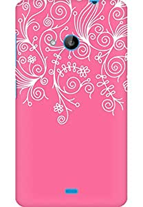 AMEZ designer printed 3d premium high quality back case cover for Microsoft Lumia 535 (light pink white design pattern abstract)
