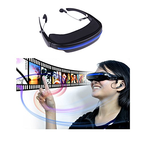 Andoer 4GB 52″ 4:3 Virtual Wide Screen Video Glasses Eyewear Mobile Private Theater Digital with Card Slot