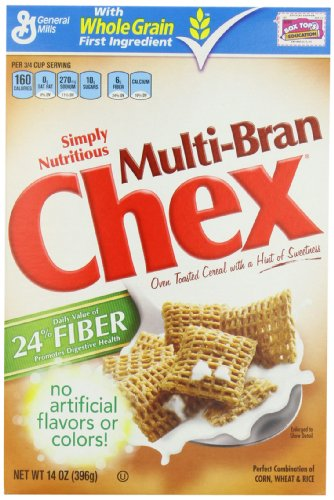 Chex Multi Bran Cereal, 14-Ounce Box (Pack of 5)
