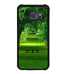 Fuson Premium 2D Back Case Cover Green park With black Background Degined For Samsung Galaxy S6::Samsung Galaxy S6 G920