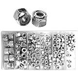 Neiko 50432A Nylon Lock Nut Assortment, 150 Piece
