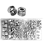 Lock Nut Assortment - Nylon Lock Inserts - 150 Pieces
