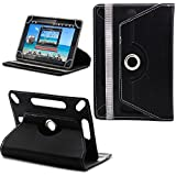 7-inch Tablet Cover Case 360 Degree Rotating Stand For All Types Of 7-inch Tablets With 1 Touch Stylus Pen (Black)