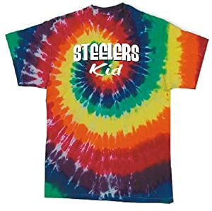 SM-2X Steelers Kid with Attitude in the Usa Tie Dye Football T Shirt