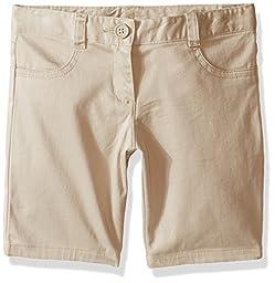 Nautica Little Girls 5-Pocket Short, Khaki, 6X