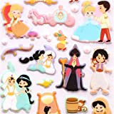 Disney 3D sponge sticker book set Aladdin Cinderella