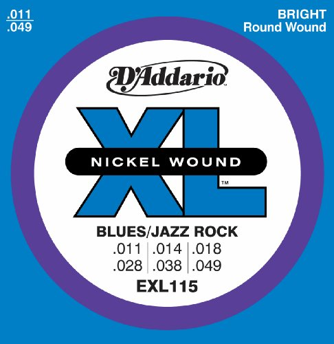 D'Addario EXL115 Electric Guitar Strings, Blues/Jazz