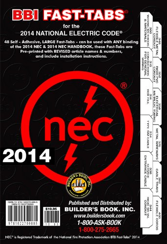 2014-National-Electrical-Code-NEC-Fast-Tabs-For-Softcover-Spiral-Looseleaf-and-Handbook
