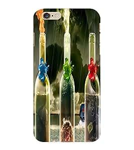 ColourCraft Flaming Bottles Design Back Case Cover for APPLE IPHONE 6S PLUS