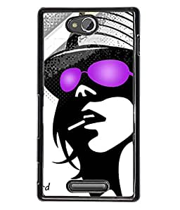 Fuson Party Girl Back Case Cover for SONY XPERIA C - D3725