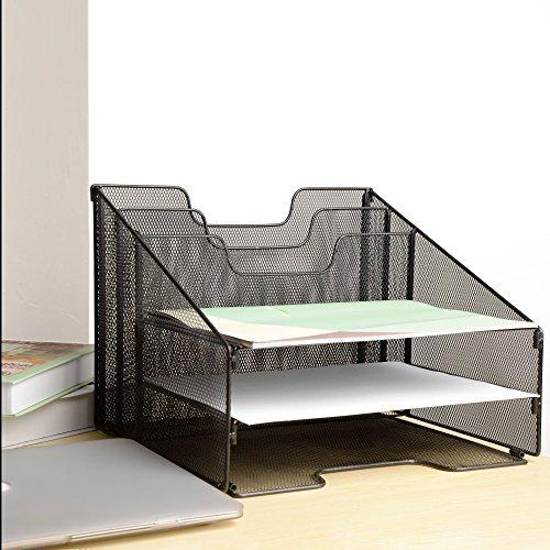 vanra schreibtisch ablage metall gitter zum sortieren organisieren f r schreibtisch mit 3. Black Bedroom Furniture Sets. Home Design Ideas