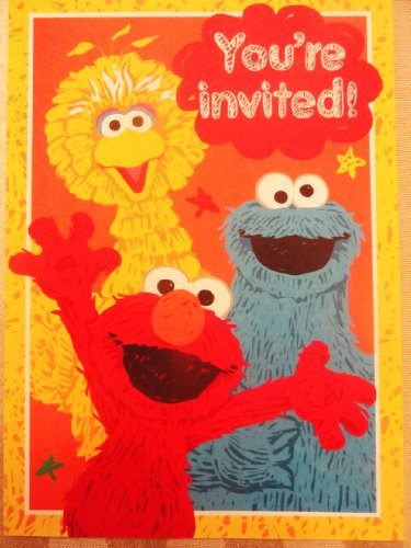 Sesame Street 10 Invitations/Envelopes