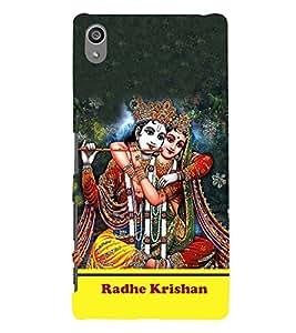 Radha Krishna 3D Hard Polycarbonate Designer Back Case Cover for Sony Xperia Z5 Premium (5.5 Inches) :: Xperia Z5 Plus