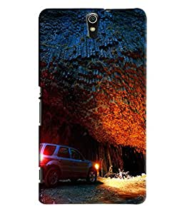 Blue Throat Car In Jungle Printed Designer Back Cover/ Case For Sony Xperia C5