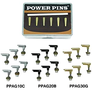 Power Pins Advanced Acoustic Guitar Bridge Pin System by BigRock Engineering