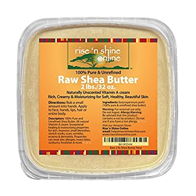 (32 oz) Bulk Raw Shea Butter with RECIPE EBOOK - Perfect for All Your DIY Home Recipes Like Soap Making, Lotion, Shampoo, Lip Balm and Hand Cream - Organic Unrefined Ivory Shea for Soft Skin and Hair