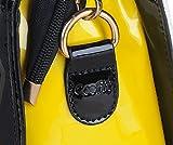 Coofit Leather Handbag Messenger Bag for Ladies + Small Bag+Bear Key Chain in White&black