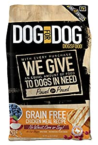 DOG for DOG DOGSFOOD Grain Free chicken Meal Recipe - 22lb, 1Piece