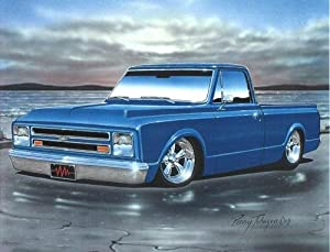 Amazon.com: 1967 68 Chevy C10 Fleetside Pickup Classic Truck Art Print