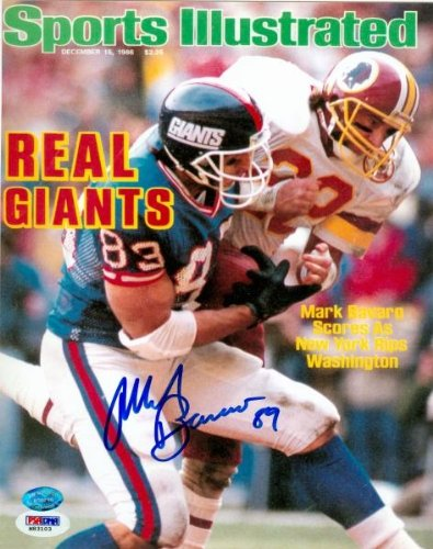 Mark Bavaro Autographed/Hand Signed 8x10 Photo (New York Giants) Image #10 PSA #M83103 at Amazon.com