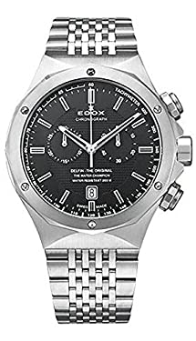 Edox Men's 10108 3 NIN Delfin Analog Display Swiss Quartz Silver Watch