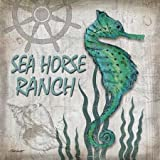 Sea Horse Ranch by Williams, Todd - Fine Art Print on CANVAS : 14 x 14 Inches