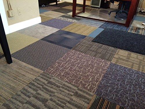 Assorted Carpet Tiles-48 Ft-Random Colors