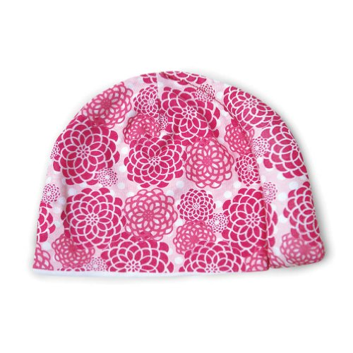 Tortle Repositioning Beanie - Fda Cleared To Prevent And Treat Flat Head Syndrome - Sweet Pink Flowers - Md front-910996
