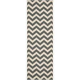 Safavieh Courtyard Collection CY6244-246 Grey and Beige Indoor/ Outdoor Runner, 2 feet 3 inches by 8 feet (2\'3\