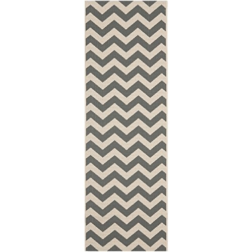 "Safavieh Courtyard Collection CY6244-246 Grey and Beige Indoor/ Outdoor Runner (2'3"" x 6'7"")"