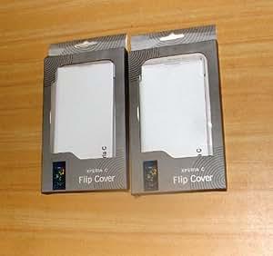 Generic Sony Xperia C - 100% Original Flip Cover - White