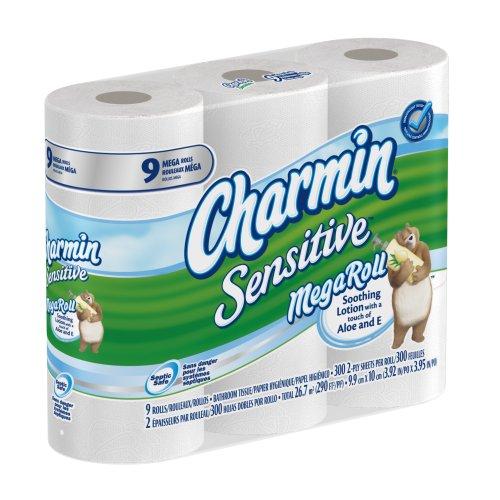 Charmin sensitive toilet paper 9 mega rolls pack of 4