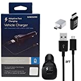 Official Samsung Adaptive Fast Charging Vehicle Car Charger With Micro to C & C TYPE OTG Adapter for Galaxy S6/7/8/9/Note4/5/8/+/Edge/Google Pixel/XL/X/2 (US Retail Packing Kit) (Color: Fast Car Charger Kit)