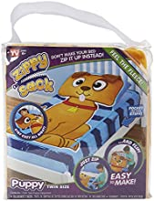 ZIPPY SACK PUPPY TWIN SIZE MAKE YOU RBED WITH ONE ZIP