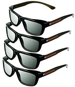 ED Adult 4 Pack - LG AG-F310DP + AG-F400DP Cinema 3D Dual Play Compatible Gaming Glasses 4 Adult Glasses