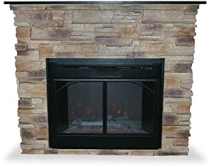 Uniflame INDOOR ELECTRIC FIREPLACE W/ STACKED STONE SURROUND