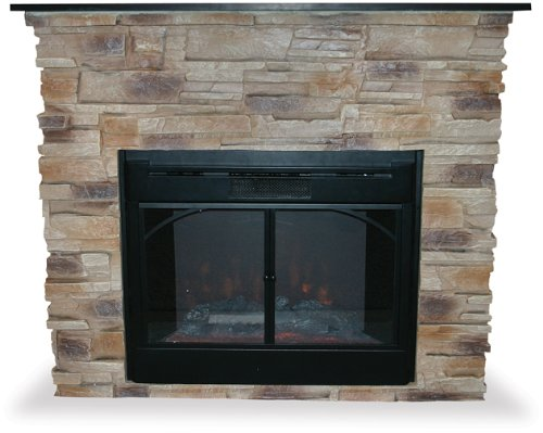 Uniflame Indoor Electric Fireplace W Stacked Stone Surround 2007 09 01
