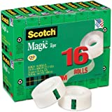 Scotch Magic Tape, 3/4 x 1000 Inches, Boxed, 16 Rolls (810K16)