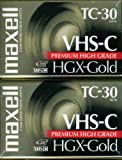 Maxell 203020 HGX-GOLD TC-30 Camcorder Video Cassette, 2 Pack